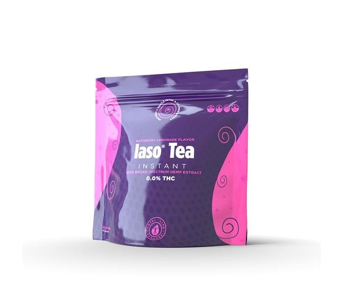 Product image for RASPBERRY - Instant Tea with Broad-Spectrum Hemp Extract - 25 Sachets